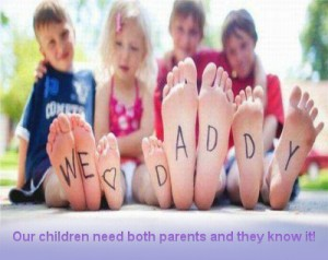 Our children need both parents poster